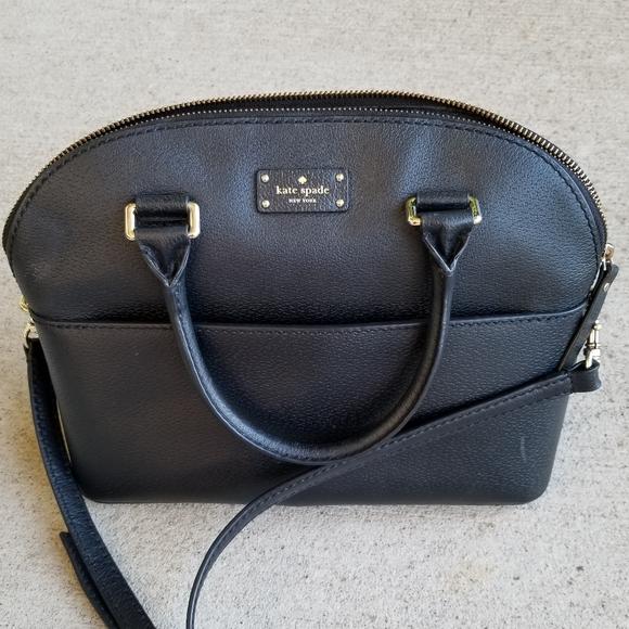 kate spade Handbags - Kate spade black leather bag.